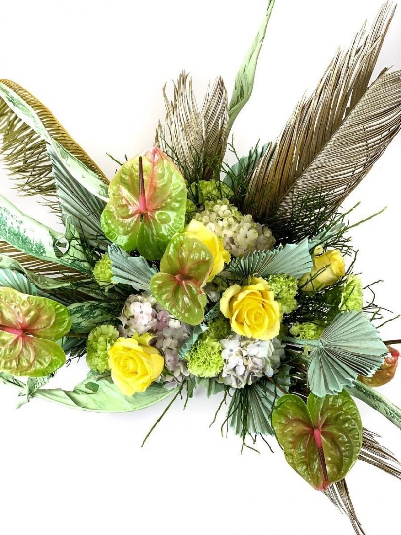 Classical bouquet - roses & calla lilies