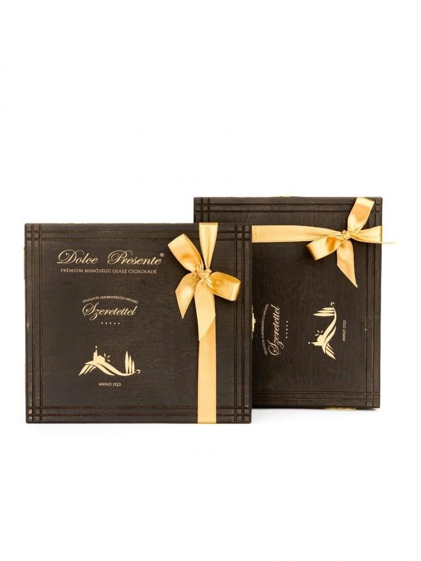 Dolce Presente 12 db-os Csokoládé ajándék fa dobozban - Fleurt ajándékküldés