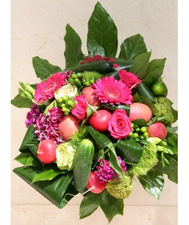 Graduation bouquet with funky carrots
