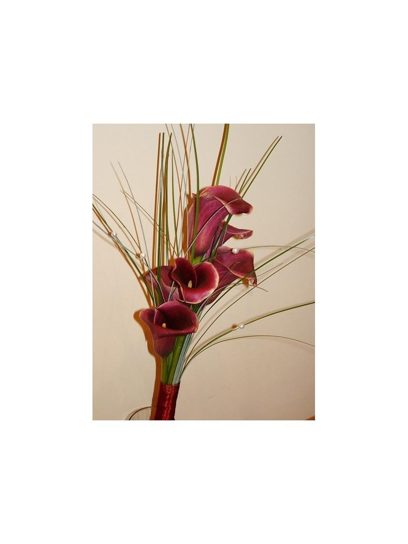 Színes kálacsokor macifűvel - Fleurt virágrendelés