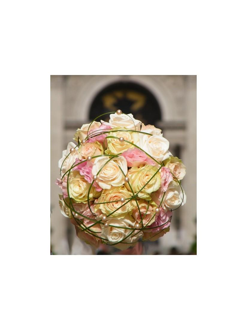 Pasztell rózsacsokor - csokor igazi hercegnőknek