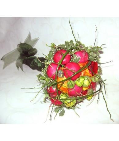 Zöldségcsokor retekkel - ballagási virágcsokorként