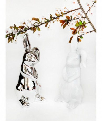 Porcelain bunnies sold in white or silver