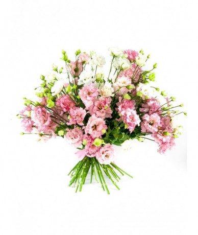 Spring flower bouquet with calla lilies