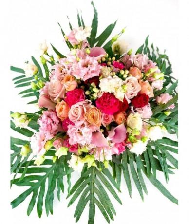 Habos és tündéri pasztell-csoda virágcsokor maga a vidámság