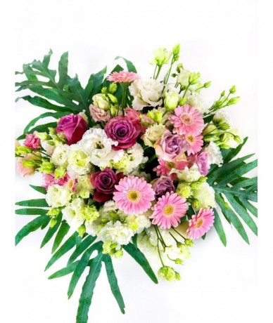 lovely posy of cheerful flowers