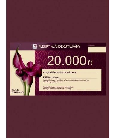 Ajándékutalvány 20.000 Ft kupon