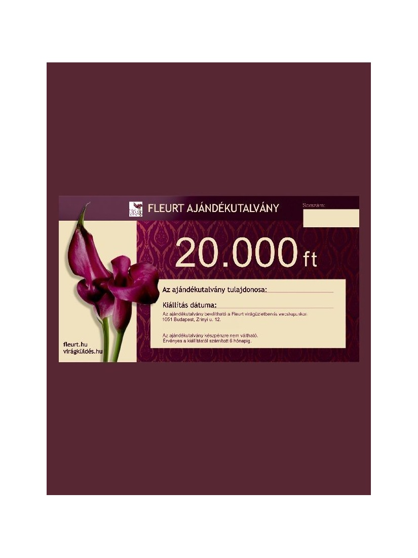 FLEURT coupon 20.000 HUF