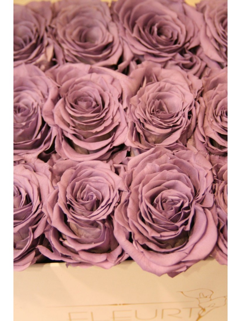 Vermont Rose cube L- from real, freeze dried flowers
