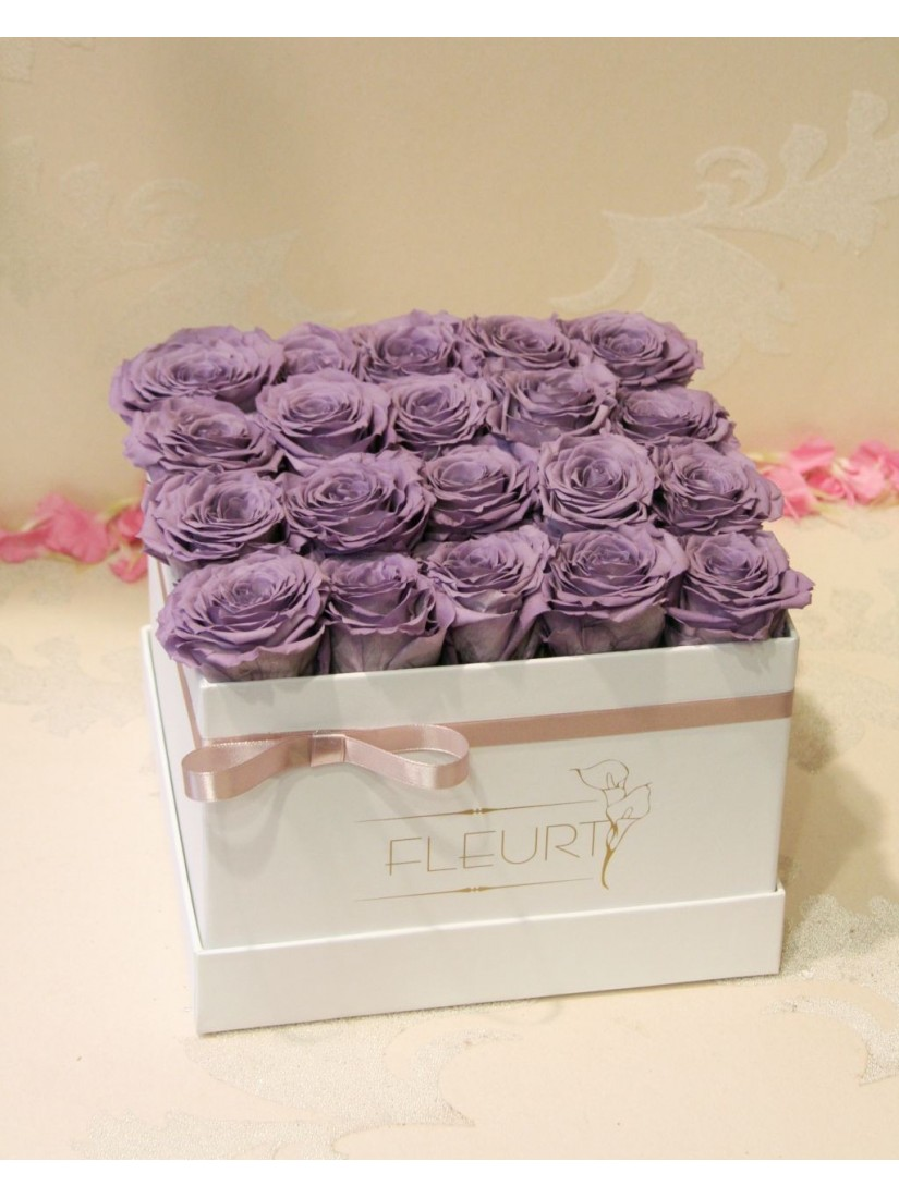 Vermont Rose cube XL- from real, freeze dried flowers
