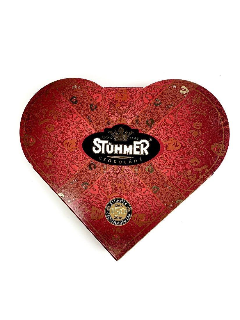 Stühmer Szívdesszert -4 különböző krémmel töltött csokoládéval