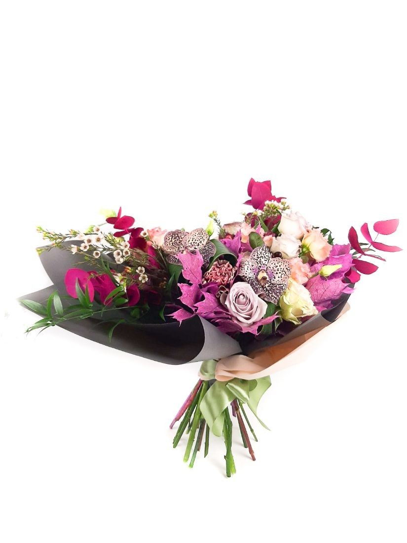 Colours and lovely flowers tied in a splendid posy