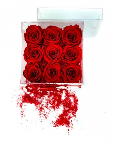 9 long lasting red roses