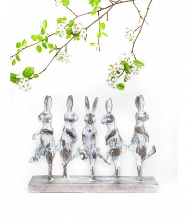 Húsvéti táncoló nyuszik kerámiából
