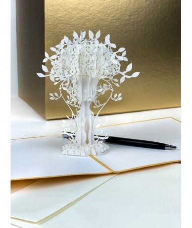 3D ajándékkártya - életfa - képeslap méretben