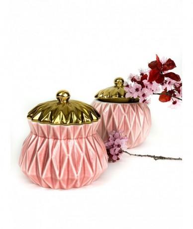 Pink jewellery pot