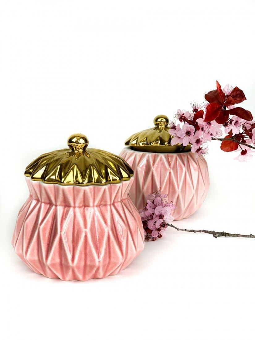 Rózsaszín ékszertartó szelence