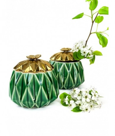 Green jewellery pot