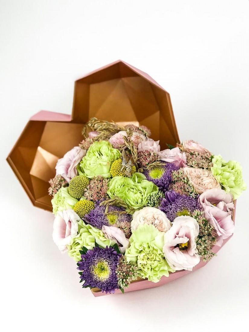 Púder hangulatú bájos doboz, 3D design
