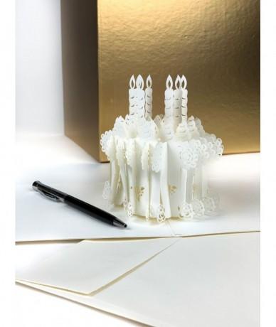 3D ajándékkártyából lézervágott torta ugrik elő