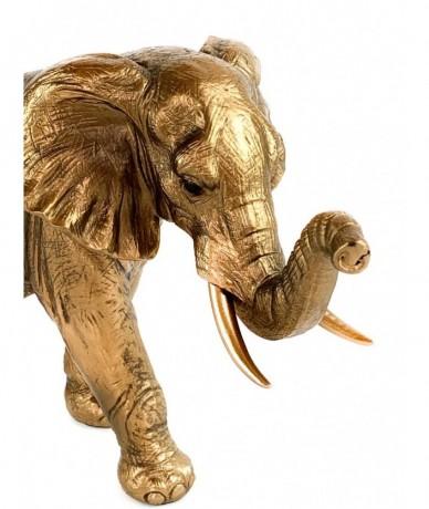 Arany elefánt dísz fémből készült design tárgy