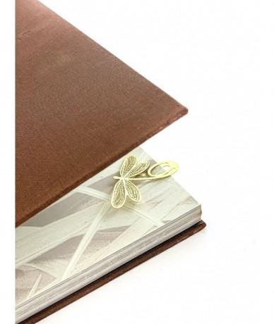 Fém könyvjelzők - ginkgo biloba levél, juharfa levél és szitakötő motívummal