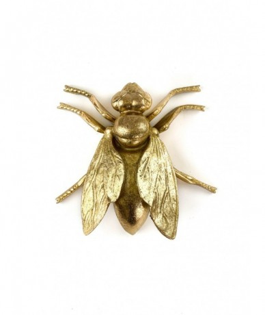 Giant gold metal fly - send presents to Budapest