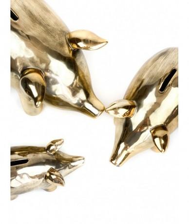 Shiny gold piggy bank - beautiful cute presents