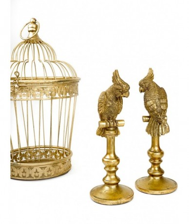 Gold parrot interior decoration - housewarming presents