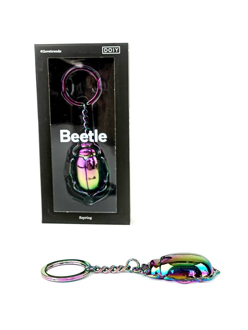 Metal beetle keychain - cheap presents