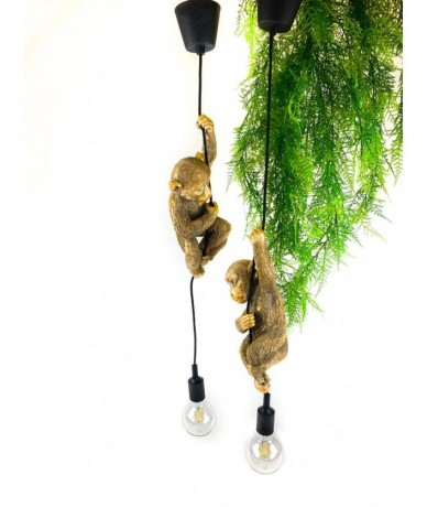 Lamp with monkey swinging - modern lamp design