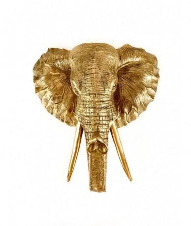 Óriási elefánt trófea, mely elegáns faldísz