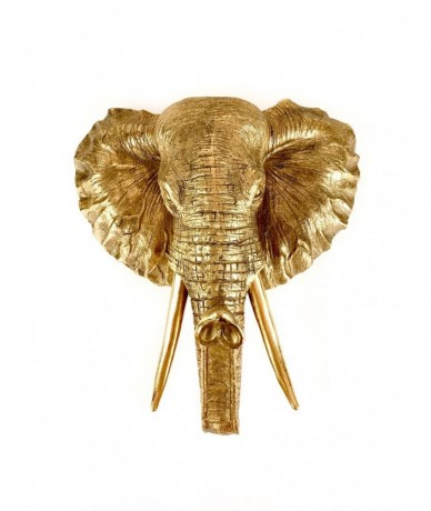 Giant gold elephant trophy - home decor accessories