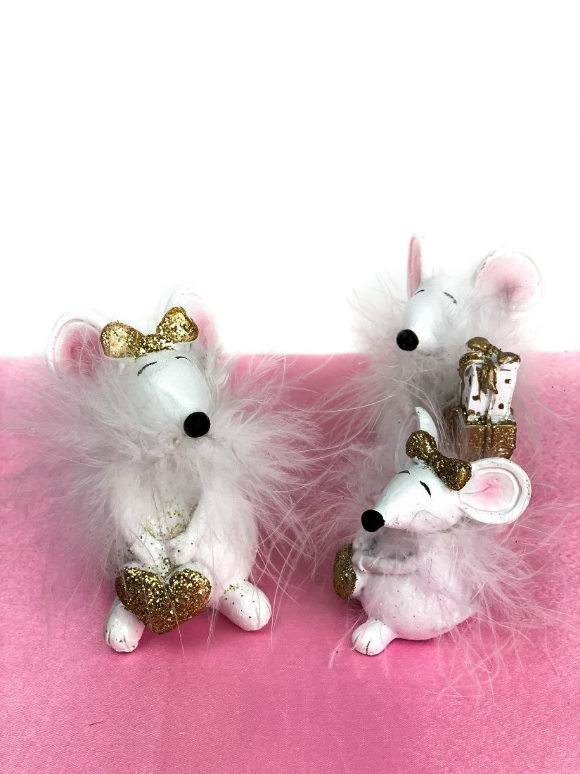 Mini white mouse - gifts for children