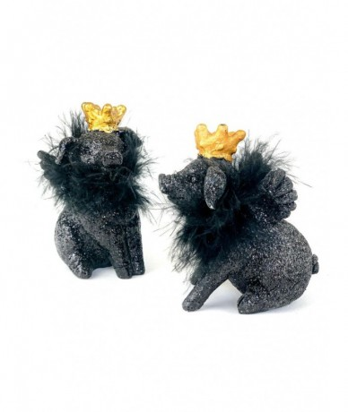 Mini black piglets with crown - gifts for children