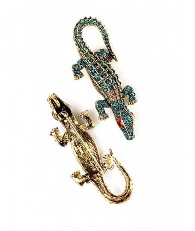 Gecko brooch with rhinestones - small gift for woman