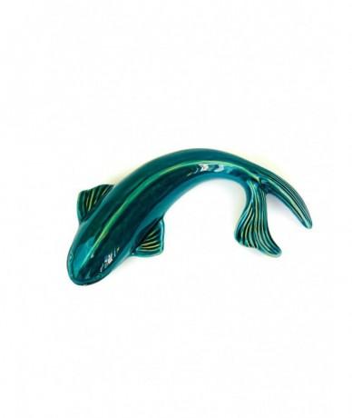 Gyönyörű kerámia hal, mely falra is akasztható, vagy polcra helyezhető lakásdísz