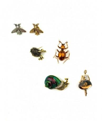 Apró díszes kitűzők - méhecske, a csiga, balerina bross