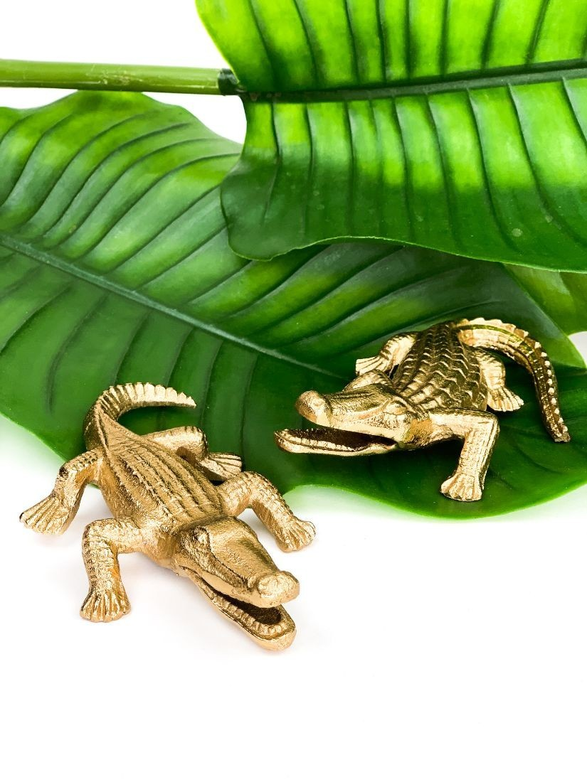 Small gold alligators  - small gift for man