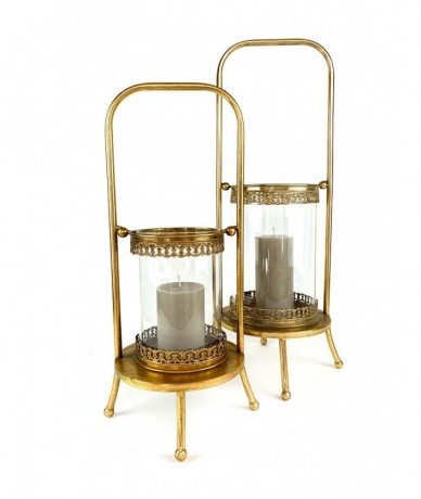 Glass-metal candle holder - classical home present