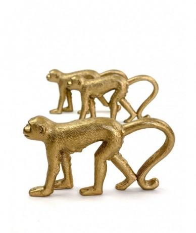 Vicces design ajándékozás a Fleurttől: arany majom szalvétagyűrű