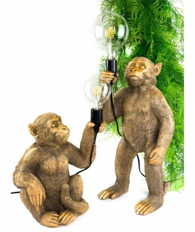 Monkey holding bulb - modern home decor