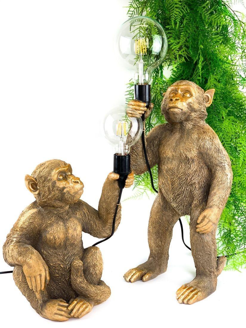 Monkey holding bulb - modern home decor
