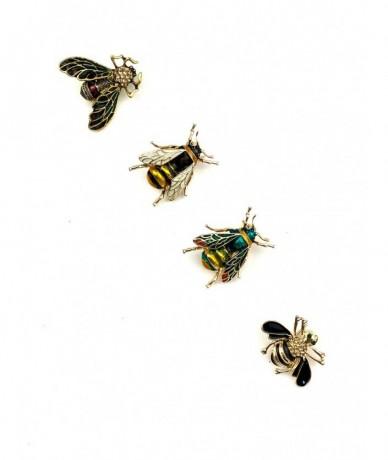 Aprócska méhecske bross aranyban és ezüstben