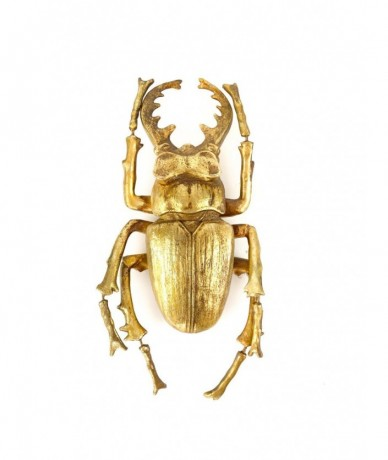 Large stag beetle in gold - interesting present for a man