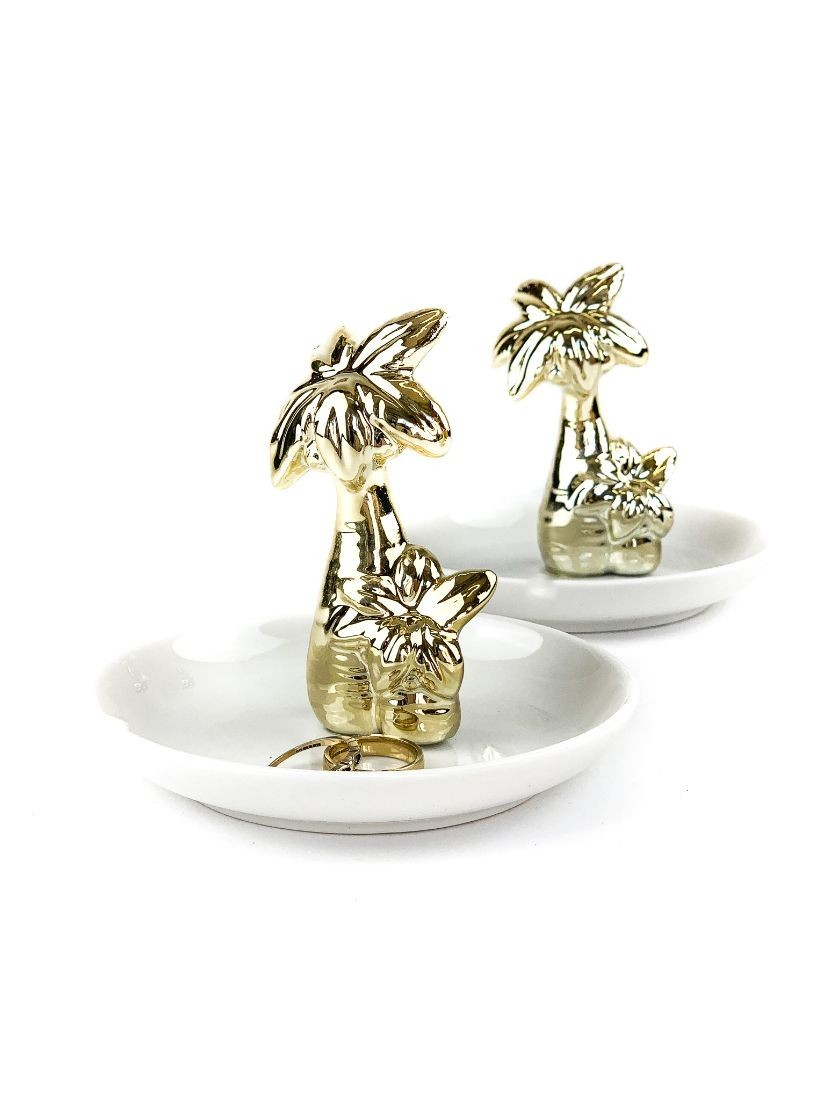Ceramic jewellery holder with palm tree  - small gift for woman