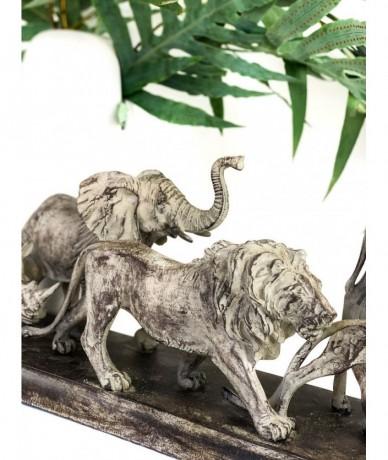 Nagyméretű szoborcsoport szafari dekoráció 5 állatból