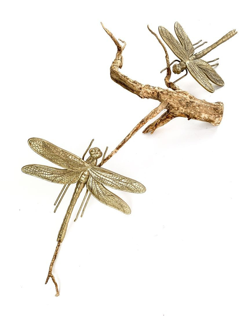 Giant gold dragonfly - interesting home decoration