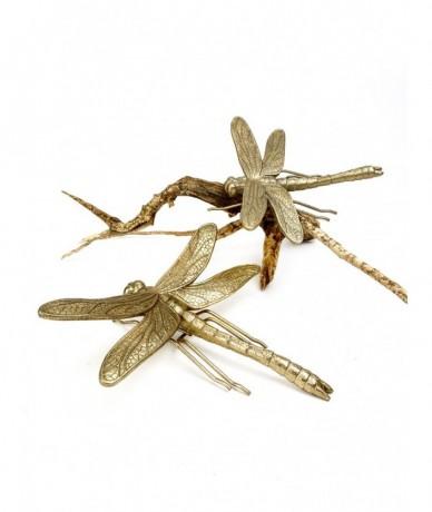Arany szitakötő hatalmas méretben fémből