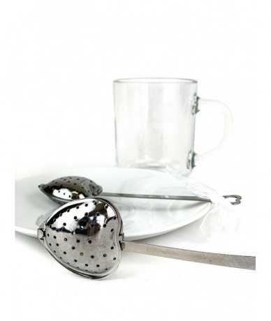 Heart-shaped metal tea filter -  - small gift for women